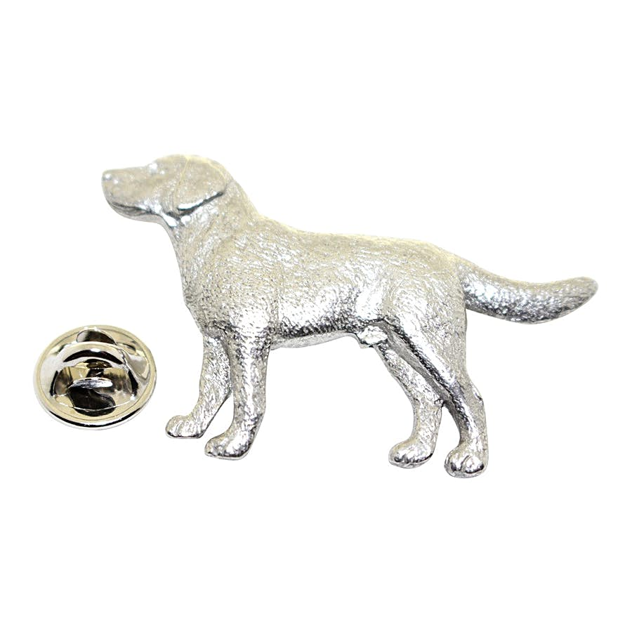Labrador or Lab Pin ~ Antiqued Pewter ~ Lapel Pin ~ Sarah's Treats & Treasures