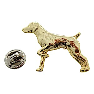 German Shorthaired Pointer Pin ~ 24K Gold ~ Lapel Pin ~ 24K Gold Lapel Pin ~ Sarah's Treats & Treasures