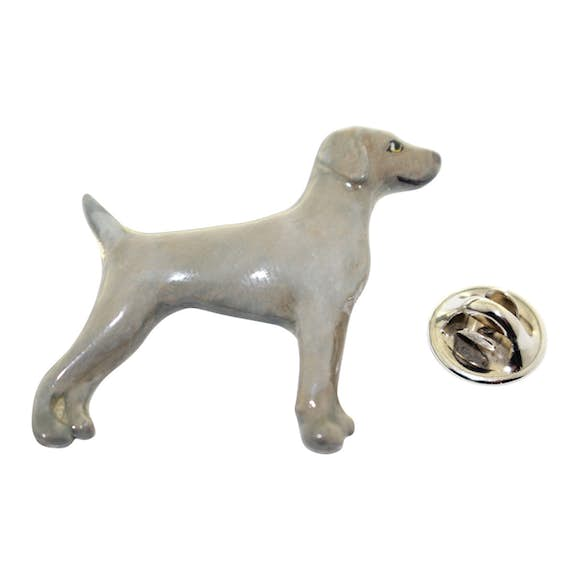 Weimaraner Pin ~ Hand Painted ~ Lapel Pin ~ Hand Painted Lapel Pin ~ Sarah's Treats & Treasures