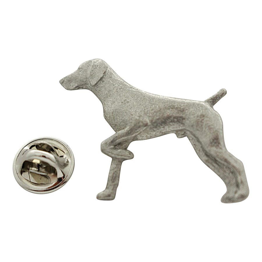 German Shorthaired Pointer Pin ~ Antiqued Pewter ~ Lapel Pin ~ Sarah's Treats & Treasures
