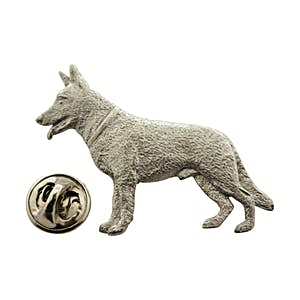 German Shepherd Dog Pin ~ Antiqued Pewter ~ Lapel Pin ~ Sarah's Treats & Treasures