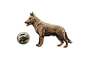 German Shepherd Pin ~ Antiqued Copper ~ Lapel Pin ~ Sarah's Treats & Treasures