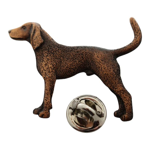 Coon Hound Pin ~ Antiqued Copper ~ Lapel Pin ~ Sarah's Treats & Treasures