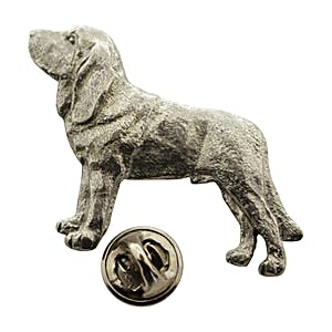 Bloodhound Pin ~ Antiqued Pewter ~ Lapel Pin ~ Sarah's Treats & Treasures