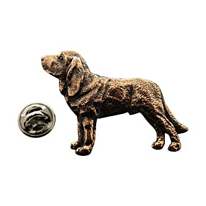 Bloodhound Pin ~ Antiqued Copper ~ Lapel Pin ~ Sarah's Treats & Treasures