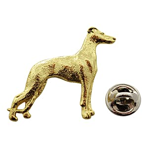 Whippet Pin ~ 24K Gold ~ Lapel Pin ~ 24K Gold Lapel Pin ~ Sarah's Treats & Treasures