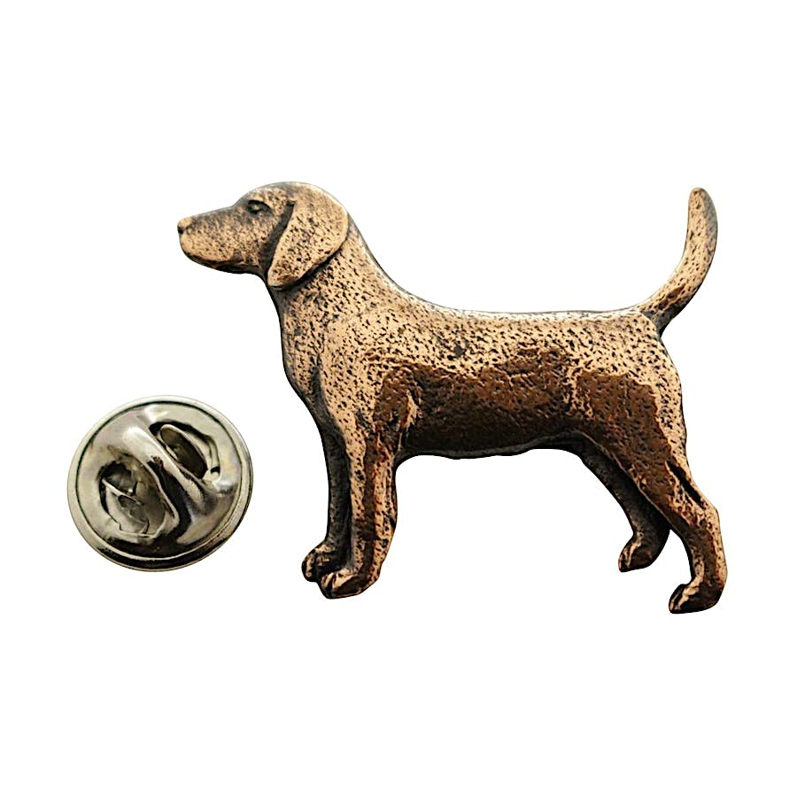 Beagle Pin ~ Antiqued Copper ~ Lapel Pin ~ Sarah's Treats & Treasures