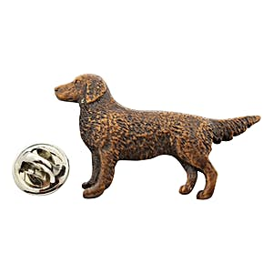 Golden Retriever Pin ~ Antiqued Copper ~ Lapel Pin ~ Sarah's Treats & Treasures