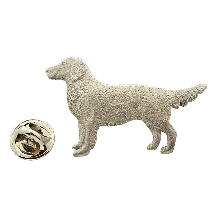 Golden Retriever Pin ~ Antiqued Pewter ~ Lapel Pin ~ Sarah's Treats & Treasures