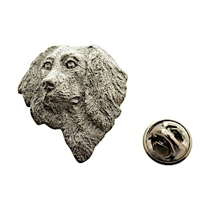 Boykin Head Pin ~ Antiqued Pewter ~ Lapel Pin ~ Sarah's Treats & Treasures