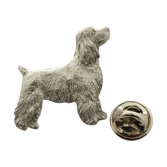 Cocker Spaniel Pup Pin ~ Antiqued Pewter ~ Lapel Pin ~ Sarah's Treats & Treasures
