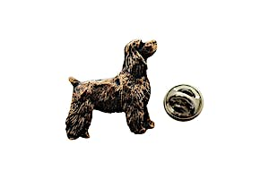 Cocker Spaniel Pup Pin ~ Antiqued Copper ~ Lapel Pin ~ Sarah's Treats & Treasures