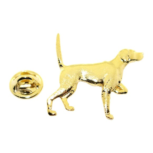 English Pointer Pin ~ 24K Gold ~ Lapel Pin ~ 24K Gold Lapel Pin ~ Sarah's Treats & Treasures