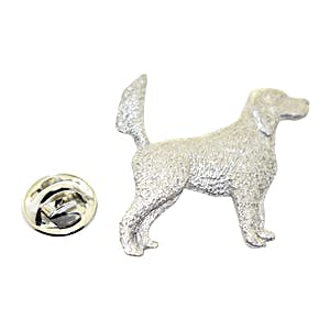 English Setter With Tail Up Dog Pin ~ Antiqued Pewter ~ Lapel Pin ~ Sarah's Treats & Treasures