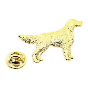 English Setter Dog Pin ~ 24K Gold ~ Lapel Pin ~ Sarah's Treats & Treasures