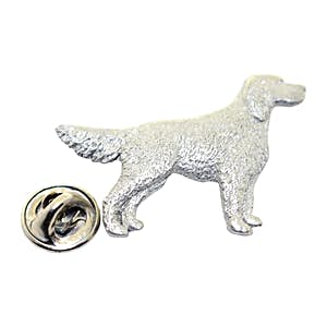 English Setter Dog Pin ~ Antiqued Pewter ~ Lapel Pin ~ Sarah's Treats & Treasures