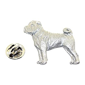Shar Pei Pin ~ Antiqued Pewter ~ Lapel Pin ~ Sarah's Treats & Treasures
