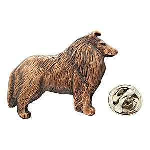 Collie Pin ~ Antiqued Copper ~ Lapel Pin ~ Sarah's Treats & Treasures