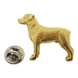 Rottweiler Pin ~ 24K Gold ~ Lapel Pin ~ 24K Gold Lapel Pin ~ Sarah's Treats & Treasures