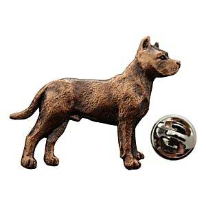 Pit Bull Pin ~ Antiqued Copper ~ Lapel Pin ~ Sarah's Treats & Treasures