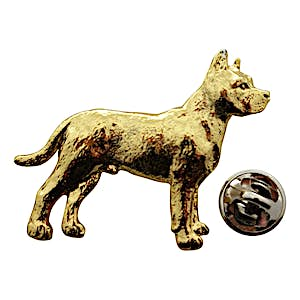 Pit Bull Pin ~ 24K Gold ~ Lapel Pin ~ 24K Gold Lapel Pin ~ Sarah's Treats & Treasures