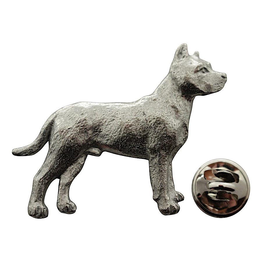 Pit Bull Pin ~ Antiqued Pewter ~ Lapel Pin ~ Sarah's Treats & Treasures