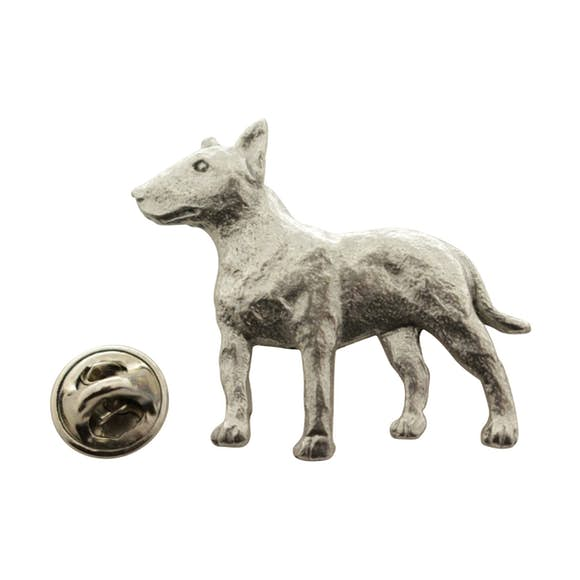 Bull Terrier Pin ~ Antiqued Pewter ~ Lapel Pin ~ Sarah's Treats & Treasures
