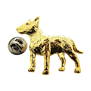 Bull Terrier Pin ~ 24K Gold ~ Lapel Pin ~ Sarah's Treats & Treasures