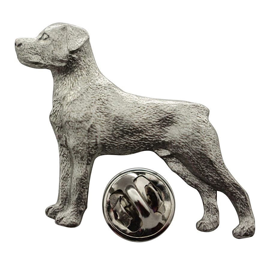 Rottweiler Pin ~ Antiqued Pewter ~ Lapel Pin ~ Sarah's Treats & Treasures