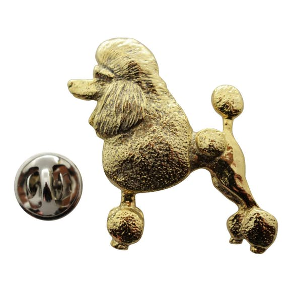 Poodle Pin ~ 24K Gold ~ Lapel Pin ~ 24K Gold Lapel Pin ~ Sarah's Treats & Treasures