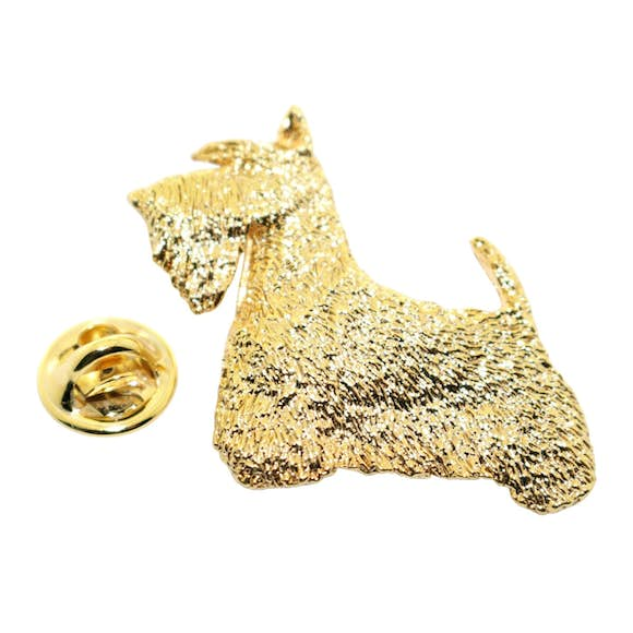 Scotty or Scottish Terrier Pin ~ 24K Gold ~ Lapel Pin ~ 24K Gold Lapel Pin ~ Sarah's Treats & Treasures