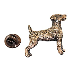 Jack Russell Terrier Pin ~ Antiqued Copper ~ Lapel Pin ~ Sarah's Treats & Treasures