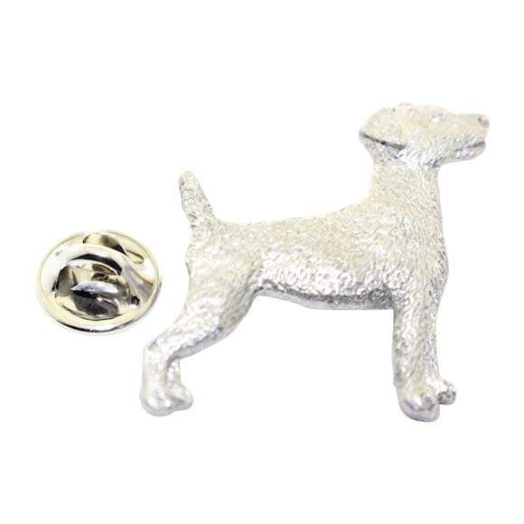 Jack Russell Terrier Pin ~ Antiqued Pewter ~ Lapel Pin ~ Sarah's Treats & Treasures