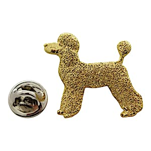 Poodle Puppy Clip Pin ~ 24K Gold ~ Lapel Pin ~ 24K Gold Lapel Pin ~ Sarah's Treats & Treasures