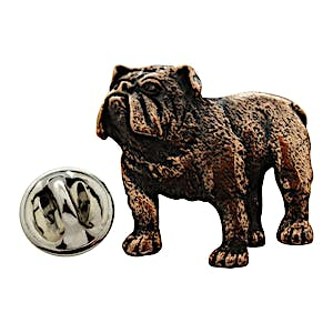 Bulldog Pin ~ Antiqued Copper ~ Lapel Pin ~ Sarah's Treats & Treasures