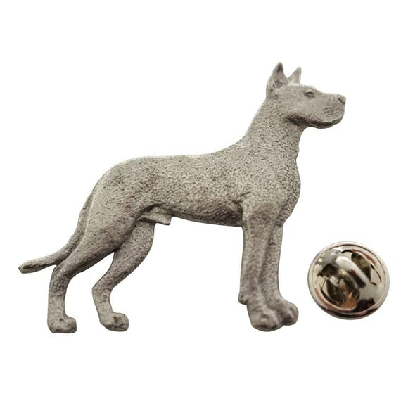 Great Dane Pin ~ Antiqued Pewter ~ Lapel Pin ~ Sarah's Treats & Treasures