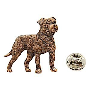 American Bulldog Pin ~ Antiqued Copper ~ Lapel Pin ~ Sarah's Treats & Treasures