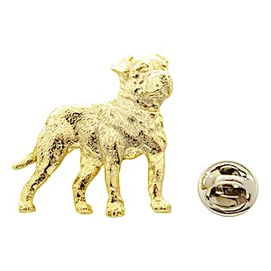 American Bulldog Pin ~ 24K Gold ~ Lapel Pin ~ Sarah's Treats & Treasures