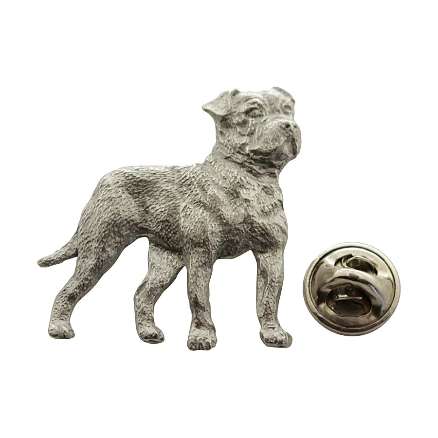 American Bulldog Pin ~ Antiqued Pewter ~ Lapel Pin ~ Sarah's Treats & Treasures