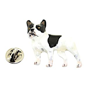 French Bulldog Pin ~ Hand Painted ~ Lapel Pin ~ Hand Painted Lapel Pin ~ Sarah's Treats & Treasures