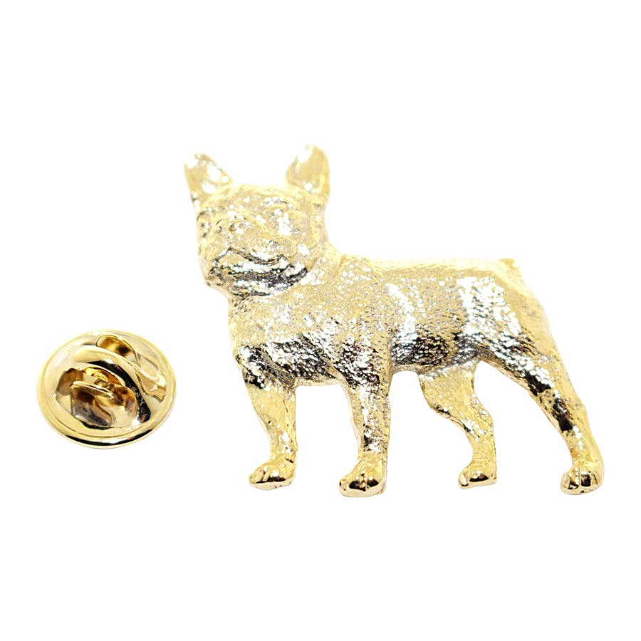 French Bulldog Pin ~ 24K Gold ~ Lapel Pin ~ 24K Gold Lapel Pin ~ Sarah's Treats & Treasures
