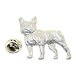 French Bulldog Pin ~ Antiqued Pewter ~ Lapel Pin ~ Sarah's Treats & Treasures