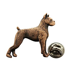 Boxer Pin ~ Antiqued Copper ~ Lapel Pin ~ Sarah's Treats & Treasures