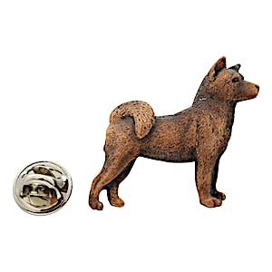 Akita Pin ~ Antiqued Copper ~ Lapel Pin ~ Sarah's Treats & Treasures