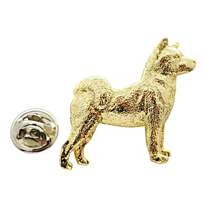 Akita Pin ~ 24K Gold ~ Lapel Pin ~ Sarah's Treats & Treasures