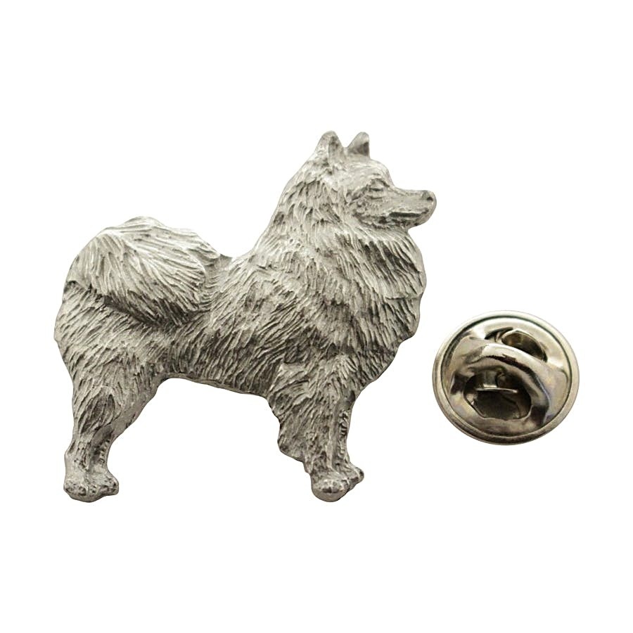 American Eskimo Pin ~ Antiqued Pewter ~ Lapel Pin ~ Sarah's Treats & Treasures