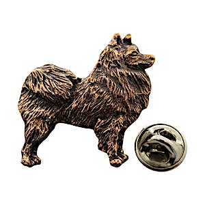 American Eskimo Pin ~ Antiqued Copper ~ Lapel Pin ~ Sarah's Treats & Treasures
