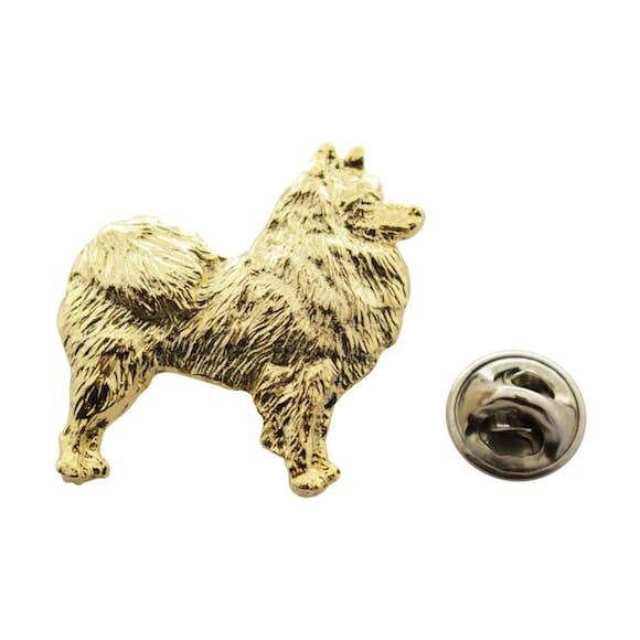American Eskimo Pin ~ 24K Gold ~ Lapel Pin ~ Sarah's Treats & Treasures