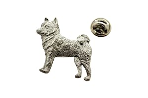 Shiba Inu Pin ~ Antiqued Pewter ~ Lapel Pin ~ Sarah's Treats & Treasures