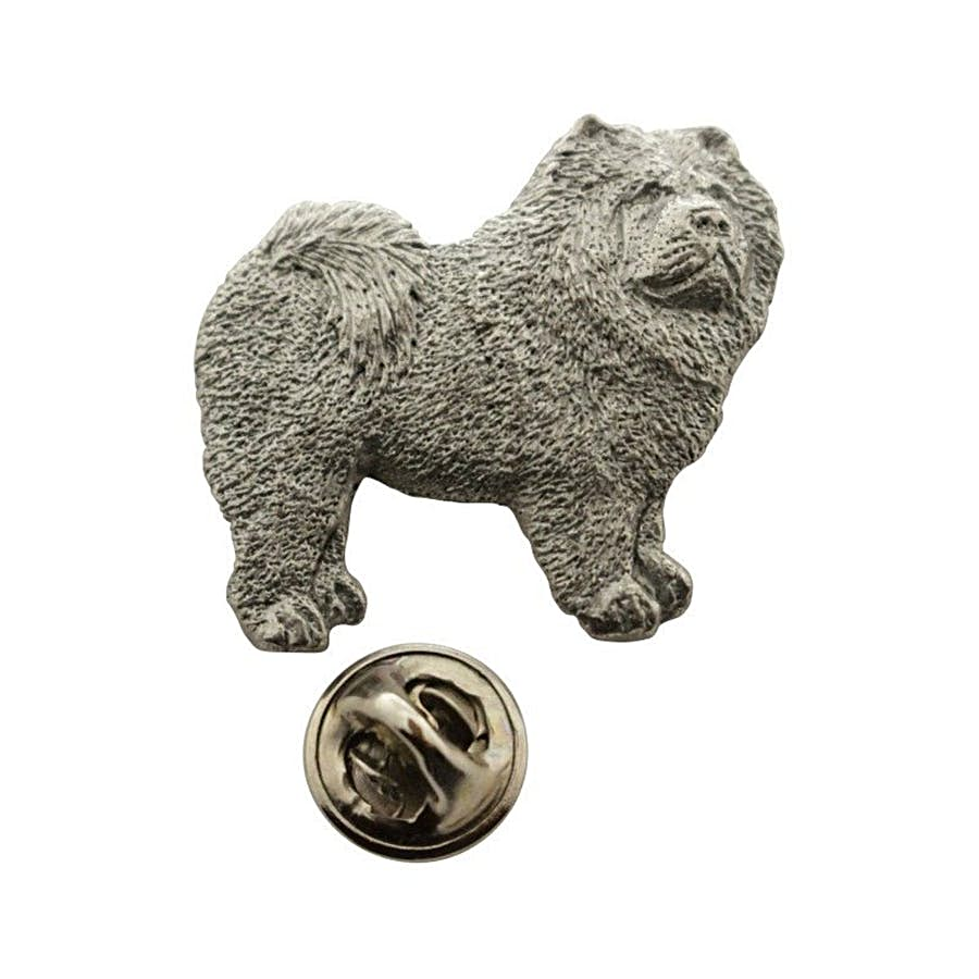 Chow Pin ~ Antiqued Pewter ~ Lapel Pin ~ Sarah's Treats & Treasures